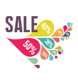 Sale Banner - Colorful Petals vector image vector image