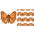 seamless background design with brown moth vector image