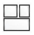 set black framed glass mock up template vector image