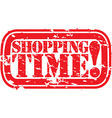 Shopping time stamp vector image