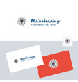 skull logotype with business card template vector image