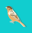 sparrow paper sticker on stylish background vector image