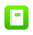 spiral notepad icon digital green vector image vector image