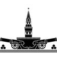 stencil of russian kremlin vector image vector image