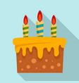 sweet cake icon flat style vector image