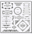 vintage decorative design elements set vector image