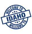 welcome to idaho blue stamp vector image vector image