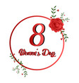 women day label vector image