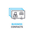 business contacts concept outline icon linear vector image
