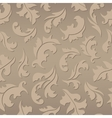 Floral seamless brown pattern vector image