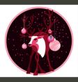 deer star vector image