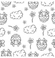 doodle goat and cloud funny for kid vector image