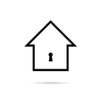 house with keyhole vector image