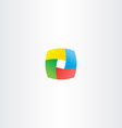 abstract business colorful cube logo square box vector image