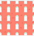 doors seamless pattern and blue brick wall vector image