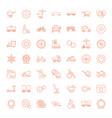 49 wheel icons vector image vector image
