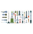 army weapons propeller engine military missile vector image