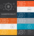 augmented reality infographic 10 line icons vector image