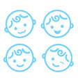 baby boy face icon symbol isolated background vector image vector image