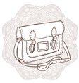 Bag with an ornament in the background vector image vector image