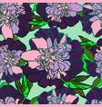 beautiful botanical with peonies vector image