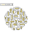 beer glasses collection vector image