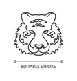 bengal tiger pixel perfect linear icon vector image