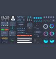 big set ui ux kit for web design vector image vector image