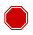 blank stop sign vector image vector image
