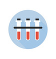 blood type test tube icon fluid reaction vector image