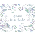 Blue greeting or save the date card vector image vector image