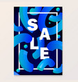 bright poster for your sales discounts and vector image