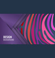 bright purple horizontal abstract banner color vector image vector image
