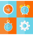 business icons orange and blue set vector image vector image