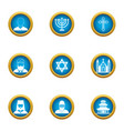 choice of religion icons set flat style vector image vector image