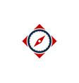 clock compass logo icon design vector image