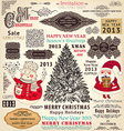 collection christmas ornaments and decor vector image