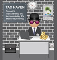 comical tax haven investor vector image vector image