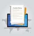 cookie policy information privacy in website vector image vector image