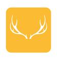 deer horns icon vector image