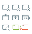 Different web browser icons set with rounded corne vector image vector image
