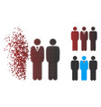 dispersed pixel halftone team manager icon vector image vector image