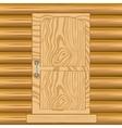 Door in wooden house vector image vector image