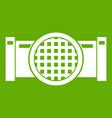 drain pipe icon green vector image vector image