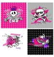 Emo banners suitable for t-shirt print vector image