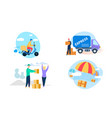 express delivery icon set on white background vector image vector image