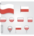 Flag of Poland vector image