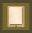 flat shading style icon tablet gadget vector image vector image