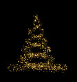 gold christmas tree happy new year background vector image vector image