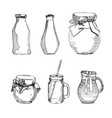 hand drawn with bottle carafe vector image